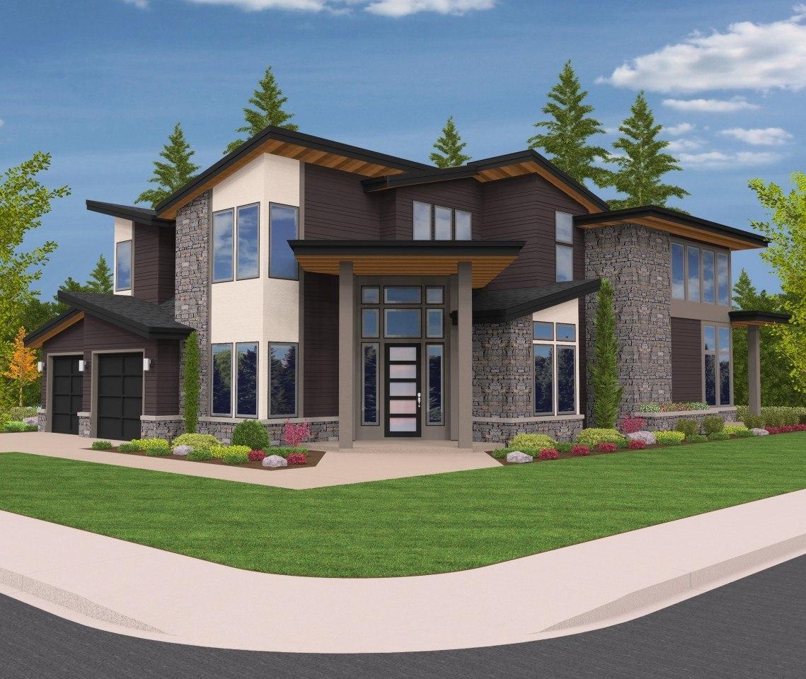 Home Design Front View: Northwest Modern House Plan By Mark Stewart