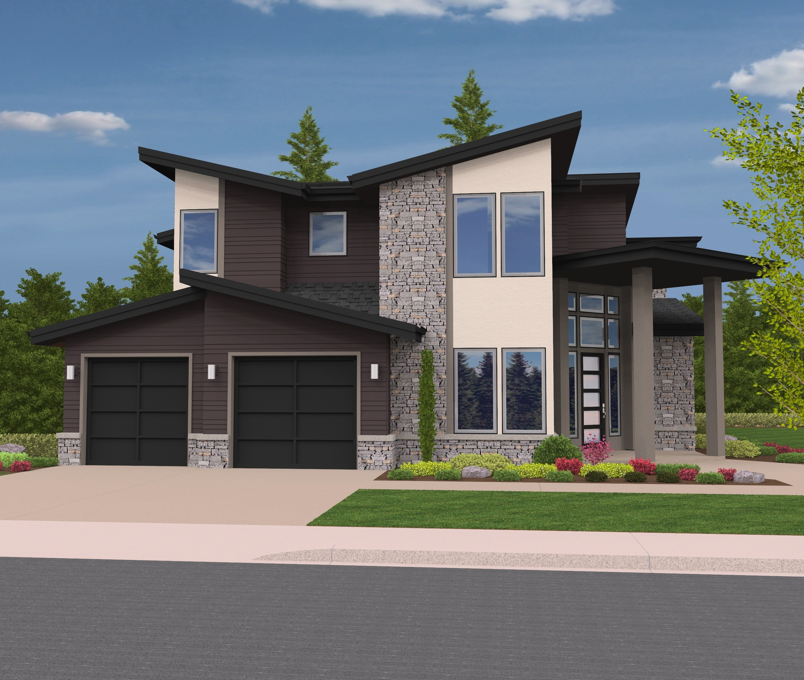 The natural northwest modern house plan by mark stewart