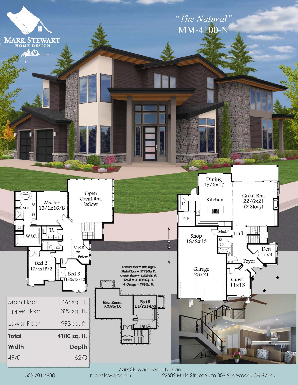 The Natural | Northwest Modern House Plan by Mark Stewart