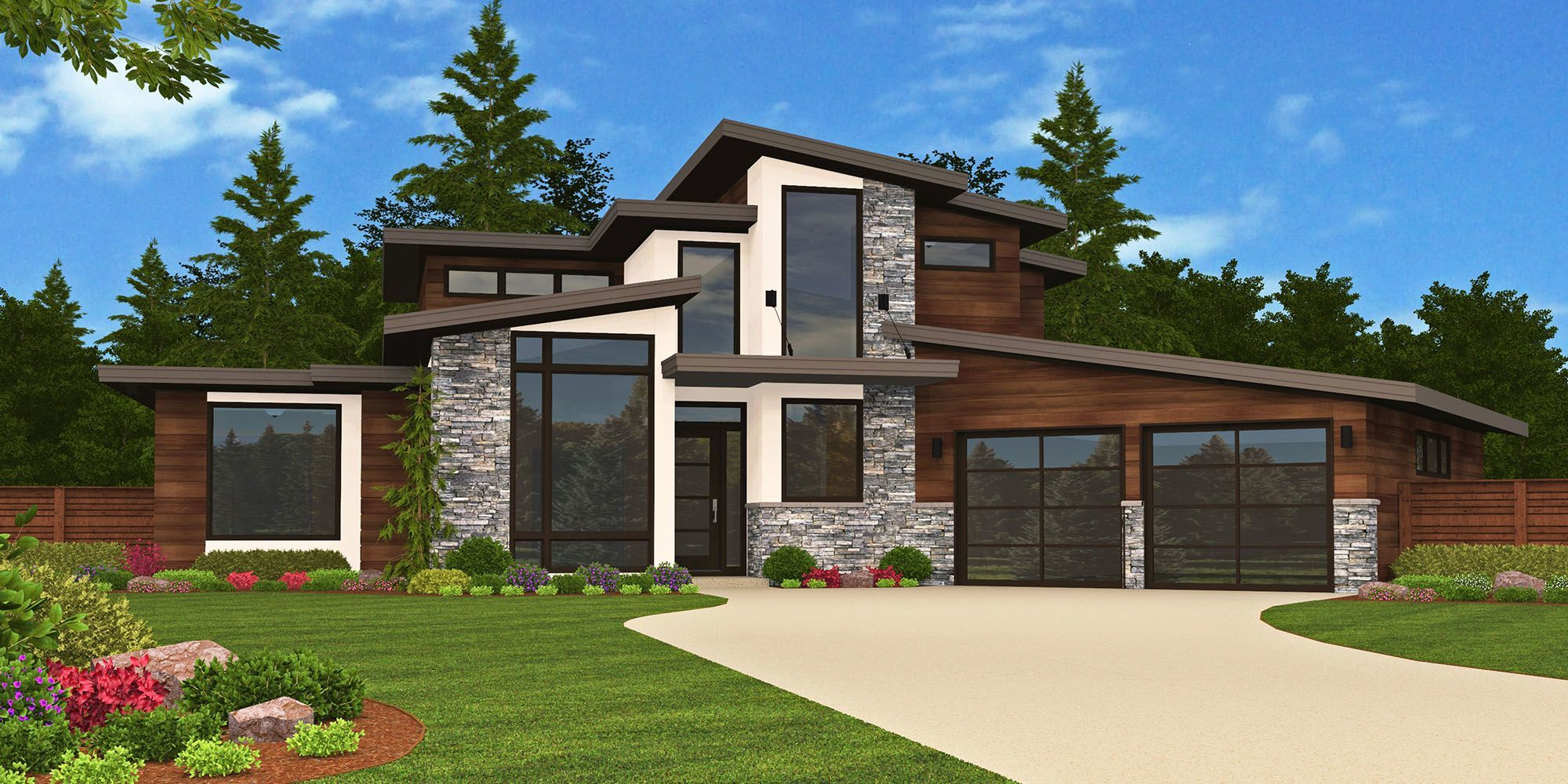 Sting x 16a house plan modern house plans for Custom modern home plans
