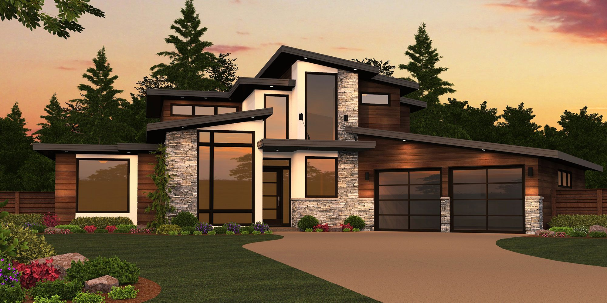 Beautiful Front Sloping Lot House Plans