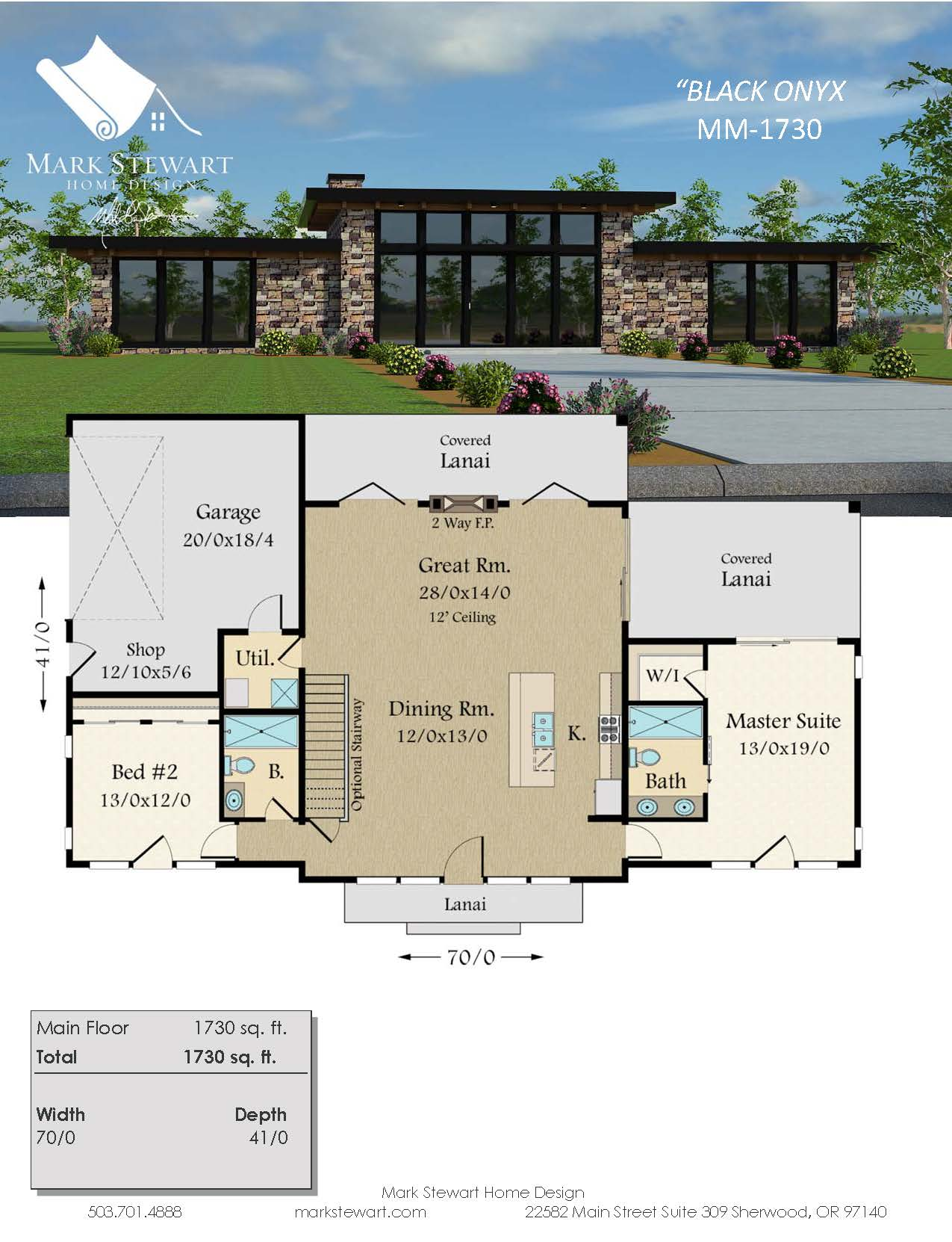Black onyx modern shed roof house plan by mark stewart home design