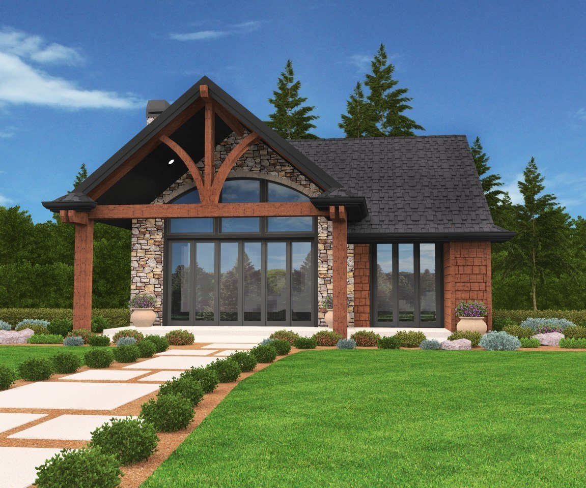 Jupiter | Cabin House Plan by Mark Stewart Home Design