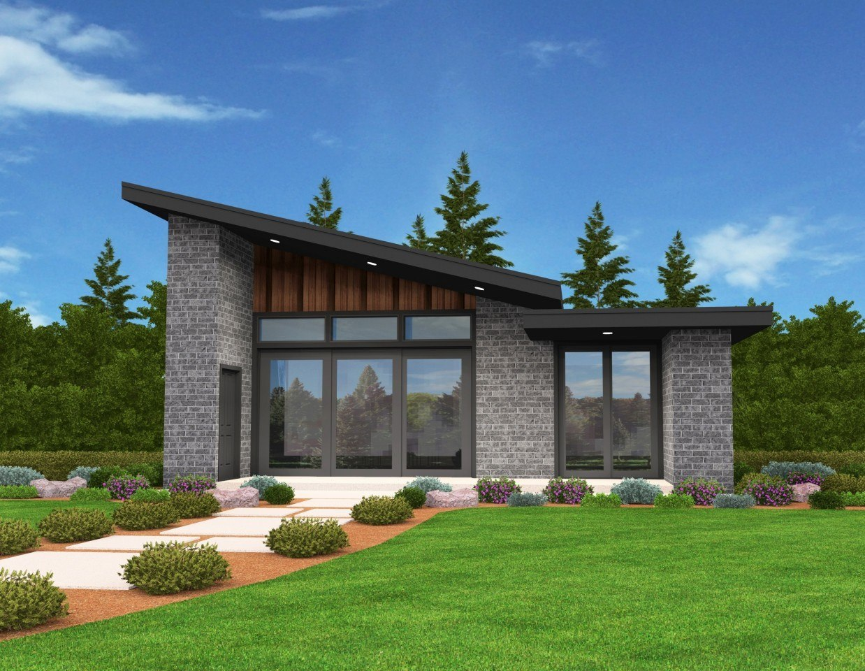 Mercury Modern Shed Roof House Plan | Small Home Designs ...