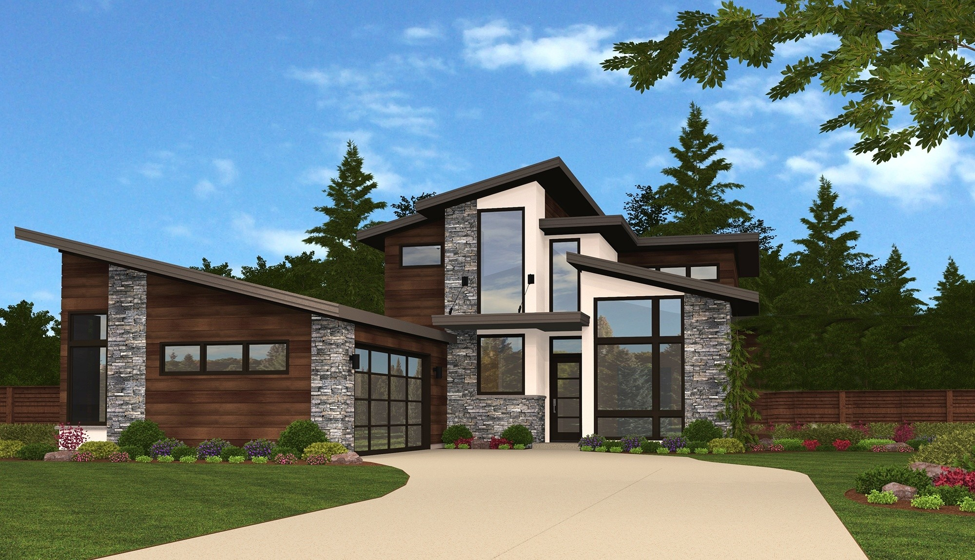 Modern Ridge House Plan Light Filled Modern Home Design