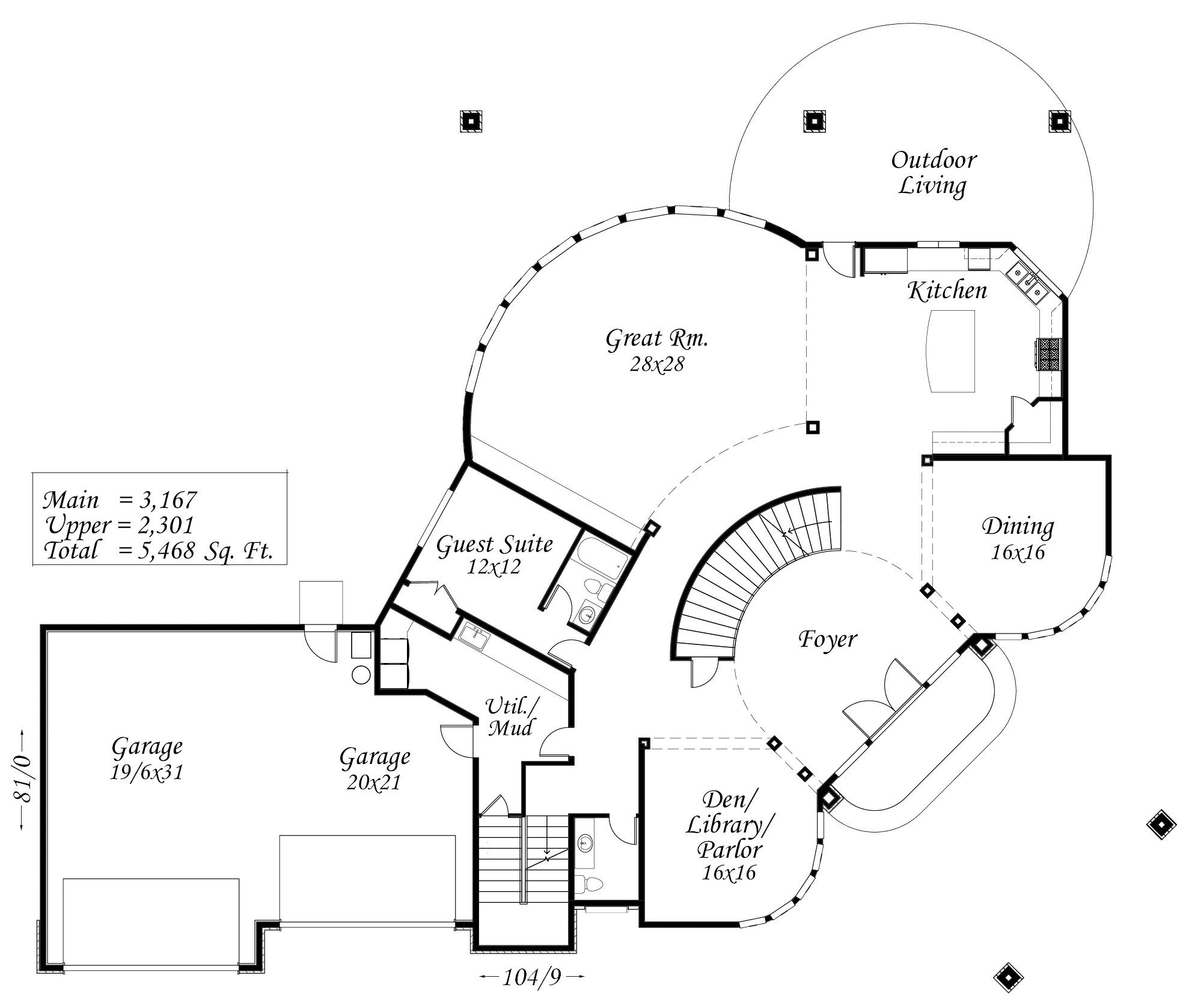 Marilyn house plan contemporary house plans extreme for Extreme home plans