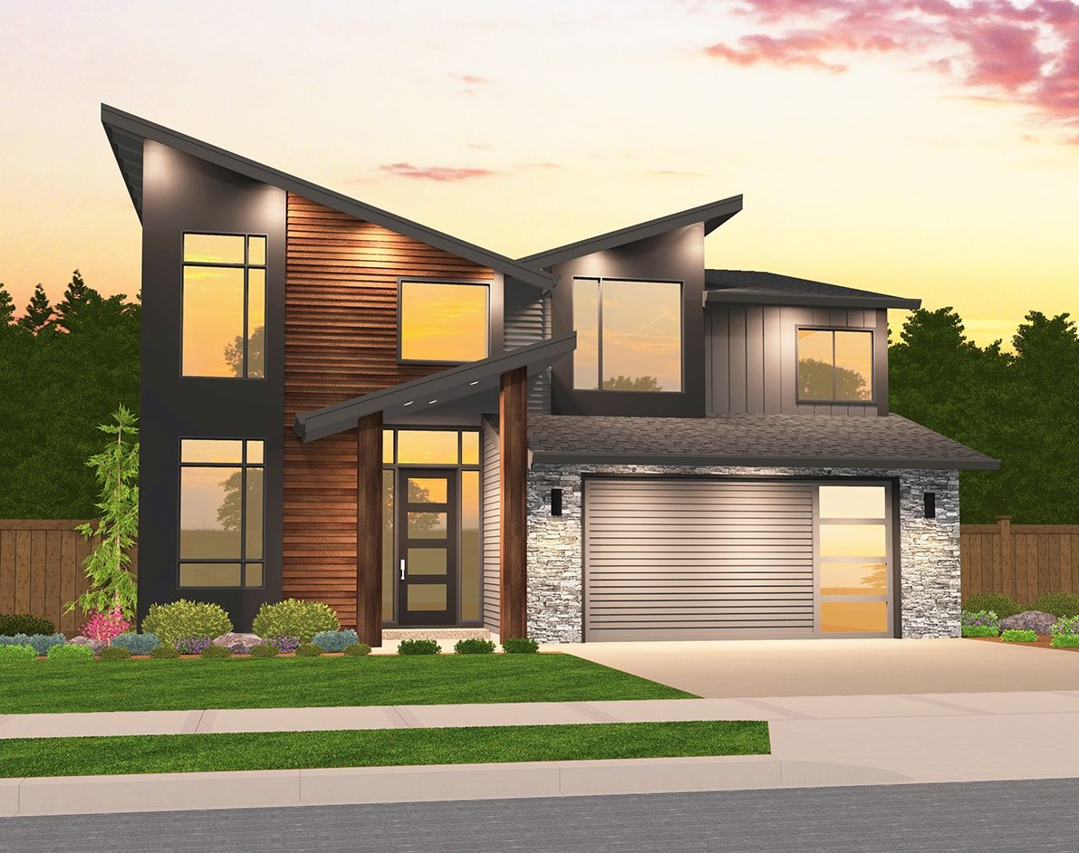 Exemplar House Plan | Two Story Contemporary Home Design