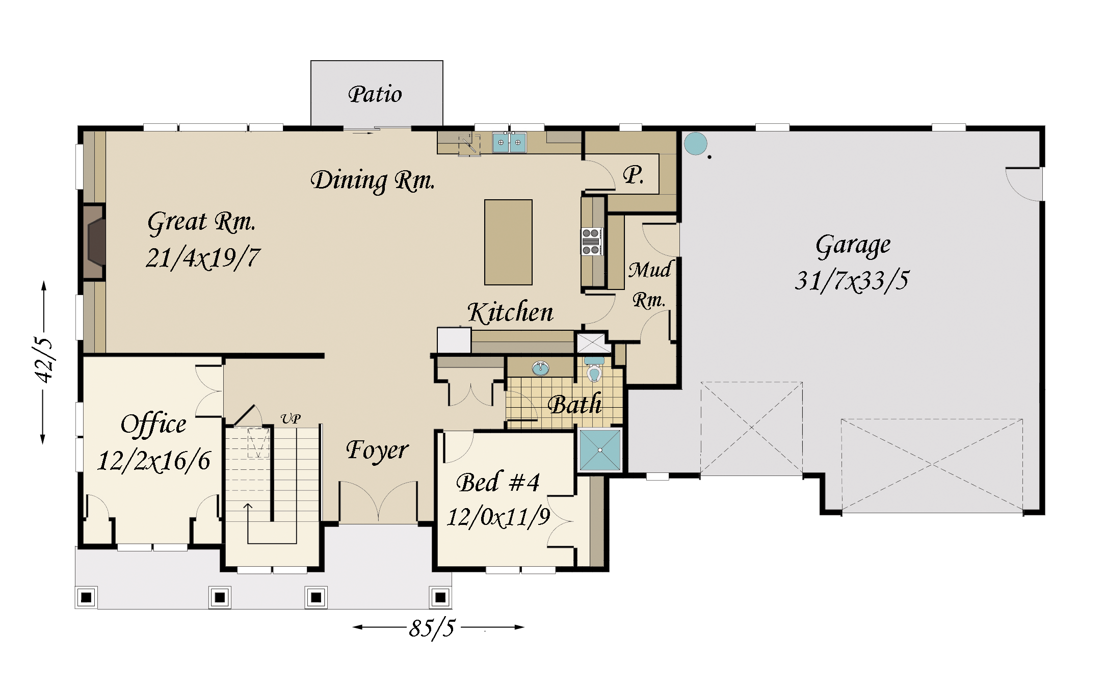 Morrison 2 house plan built in city of portland for City lot house plans