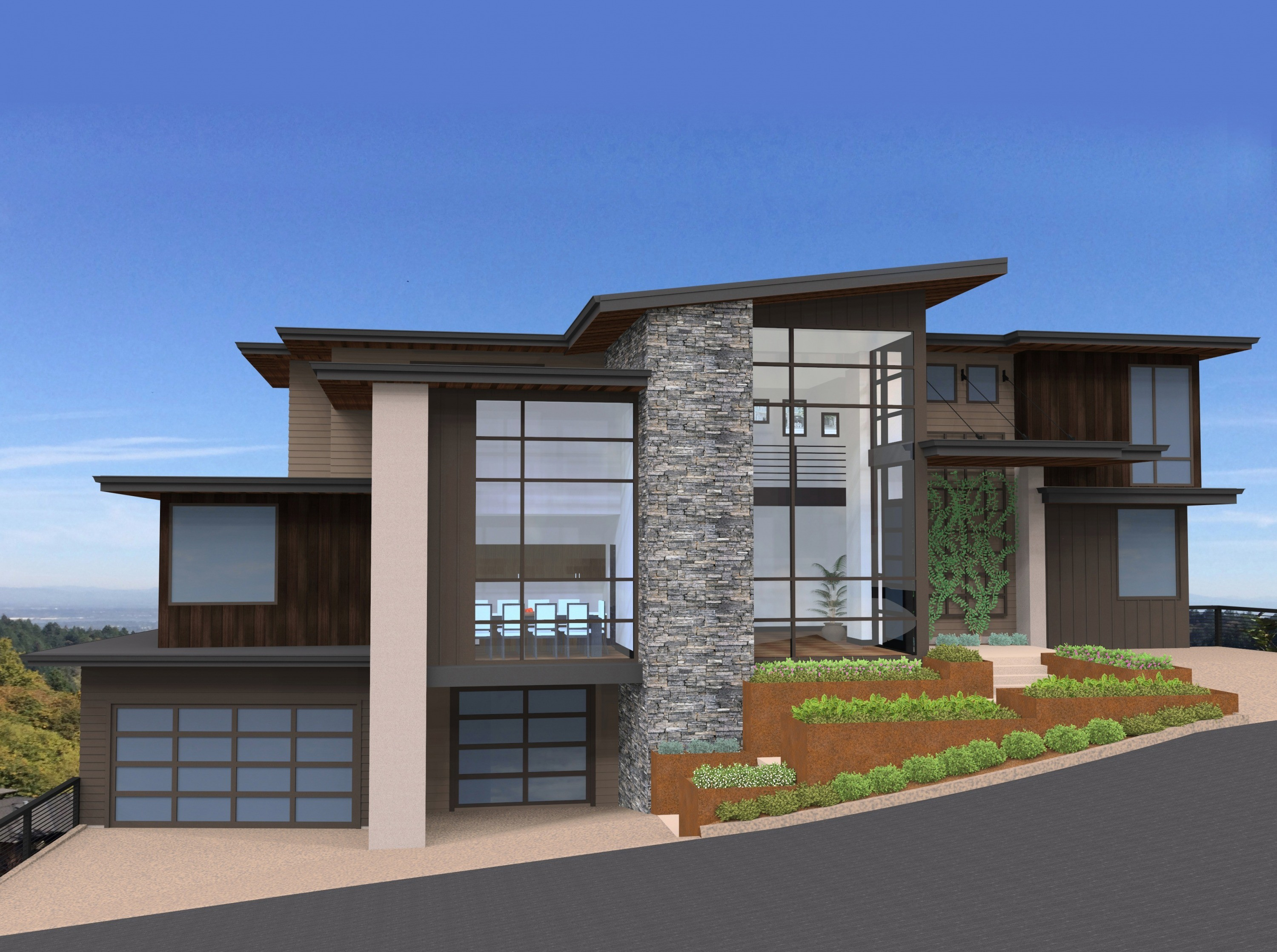 Malibu | Modern House Plan for a Sloped Lot by Mark Stewart