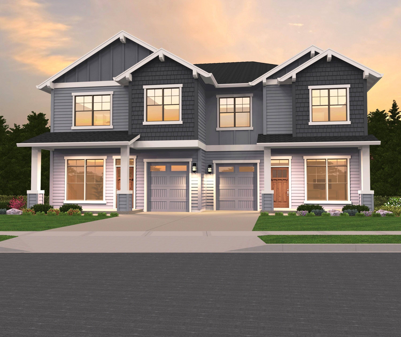 Glenview 1-2 House Plan | Skinny Duplex House Plan by Mark ...