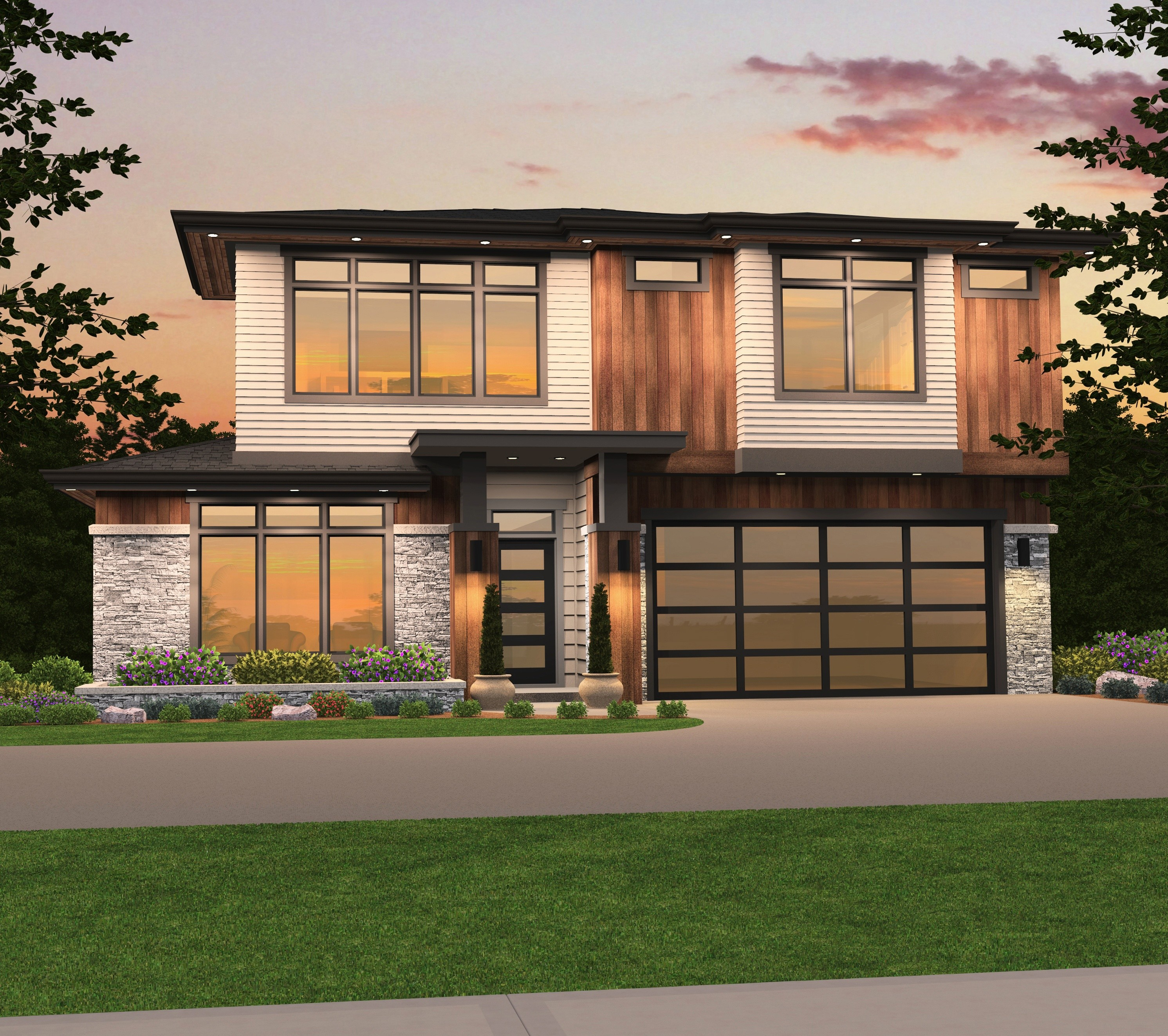 Westlake 4 House Plan | Two Story Contemporary House Plan