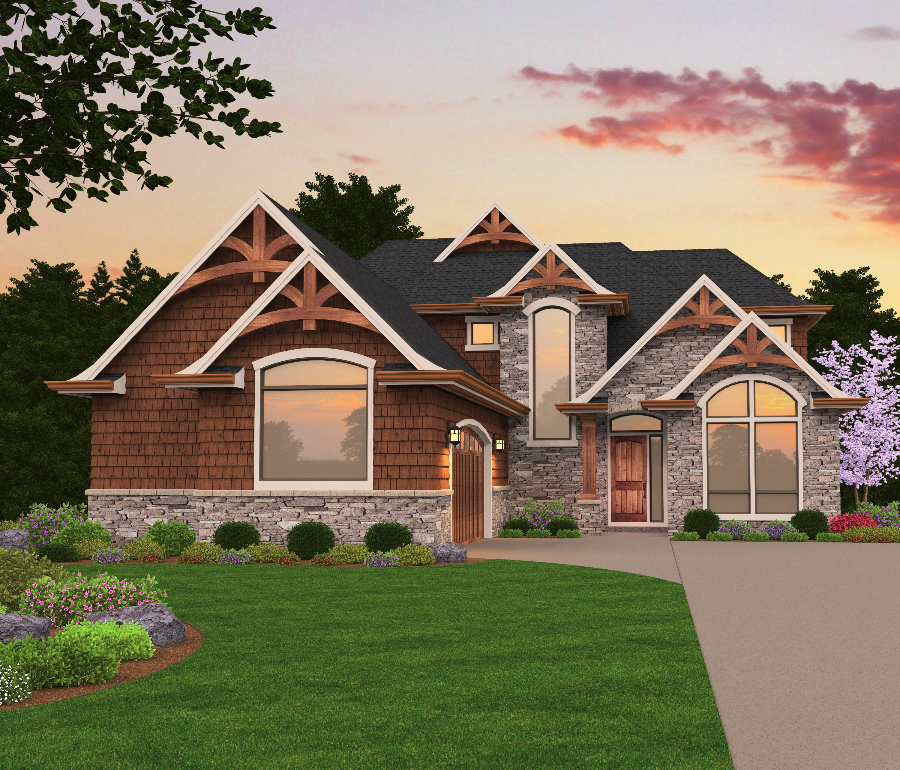 X 17 house plan designed to build lake oswego for Storybook craftsman house plans