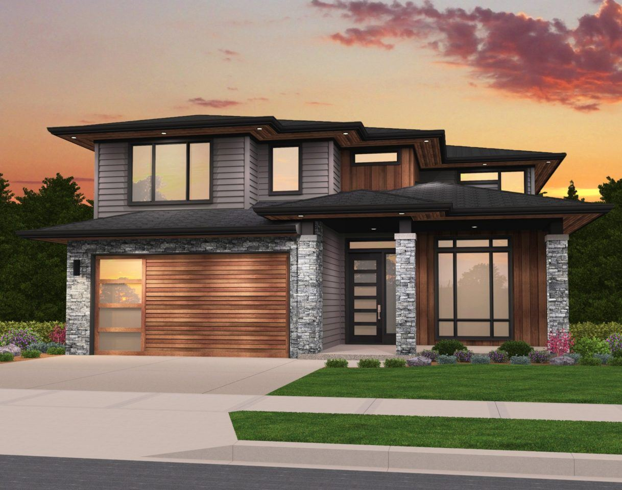 Rosy House Plan | Modern Two Story House Plan by Mark Stewart