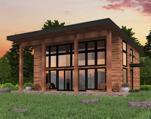 Bamboo Shed Roof Modern House Plan