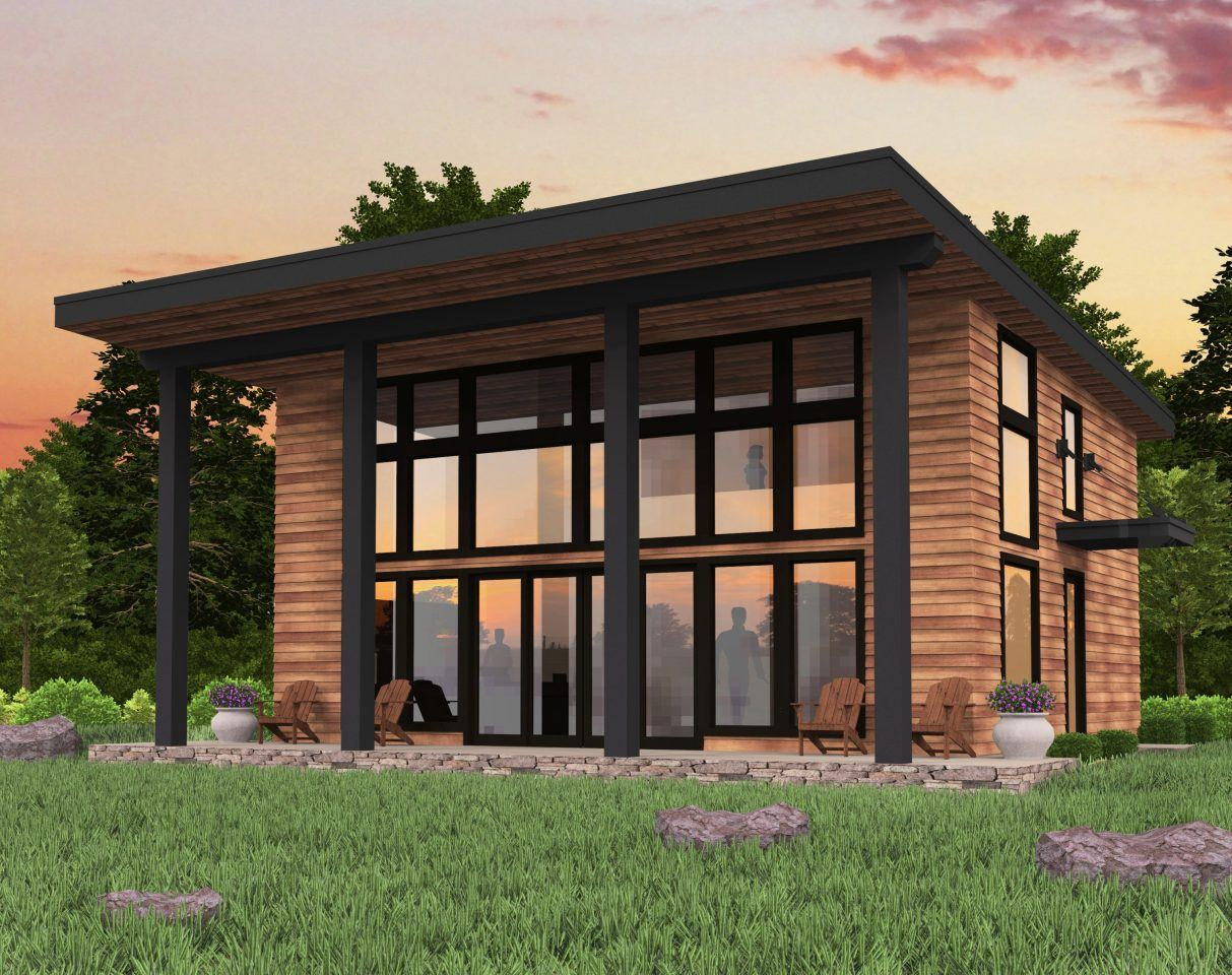 Bamboo House Plan Shed Roof Modern Small House Plans