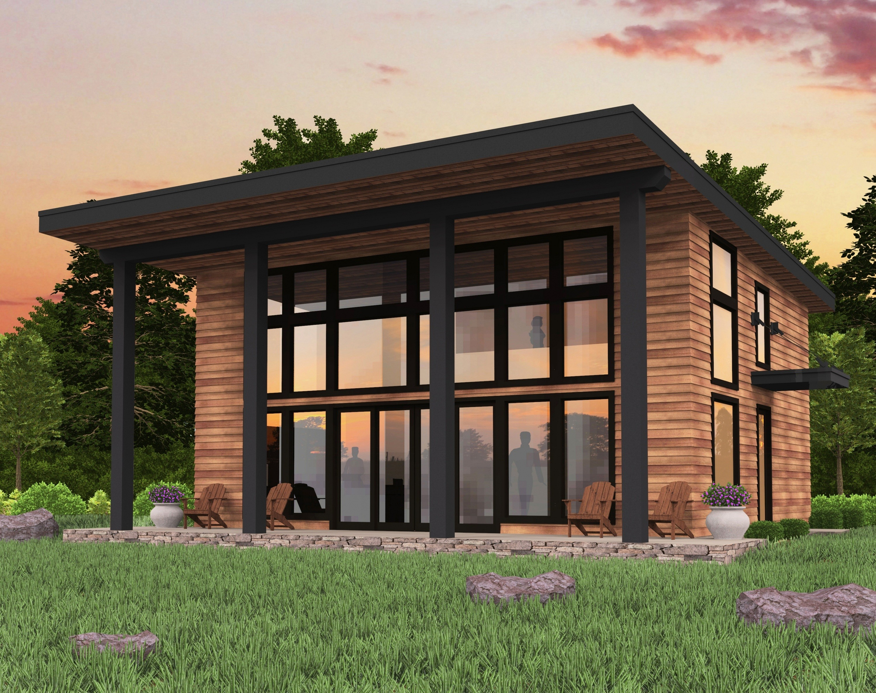 Bamboo mark stewart home design for Small house plans for sloped lots