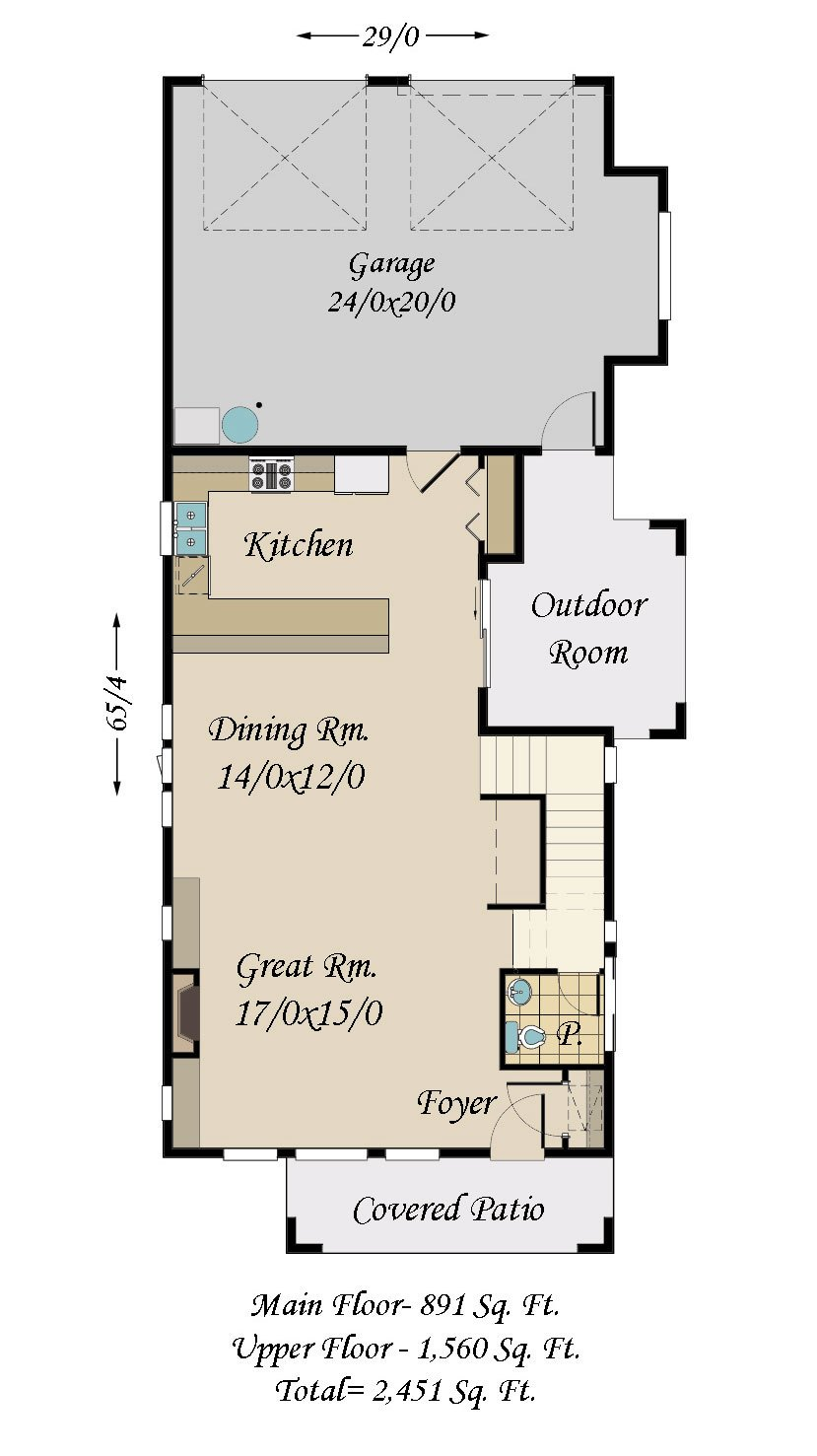 Parkway 3 House Plan Bungalow House Plans