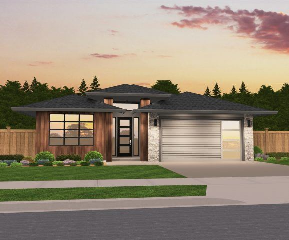 """Morisson"" Northwest Modern Hip Roof one story 