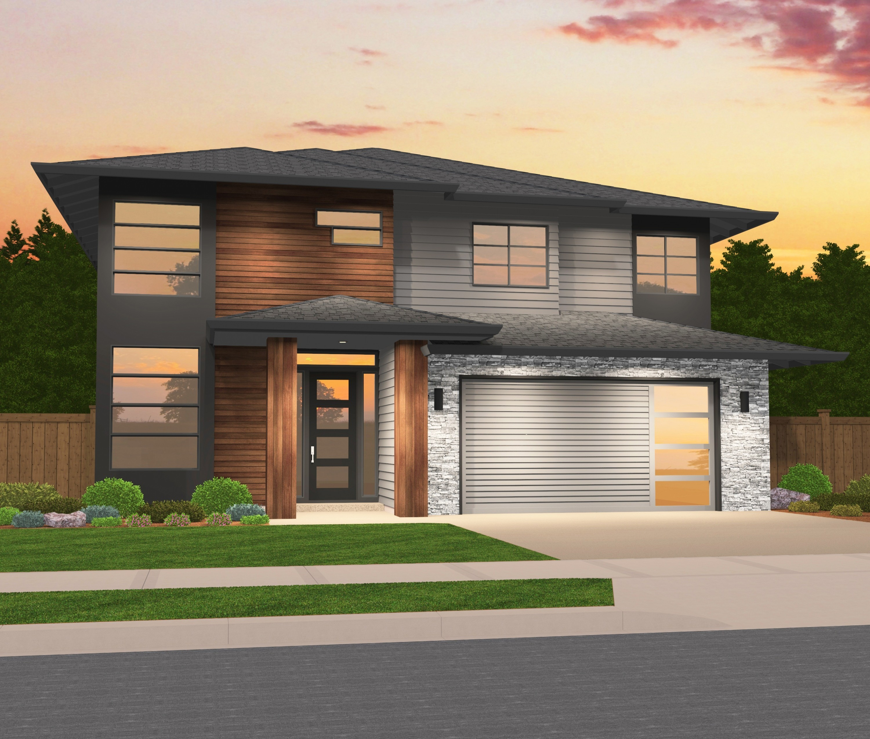 Sterling Hip Northwest Modern 2 Story on Old English Cottage Plans