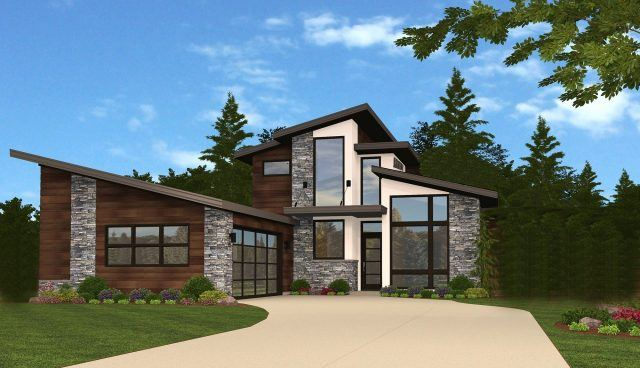 Oswego reserve 2 contemporary house plan