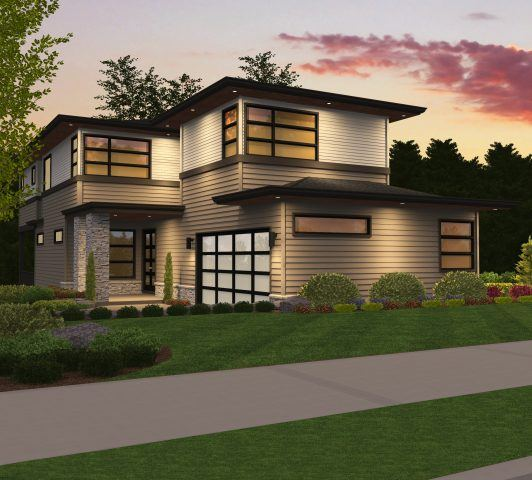 Oswego 3 contemporary house plan