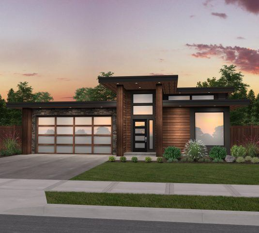 X-18 A modern shed roof house plan