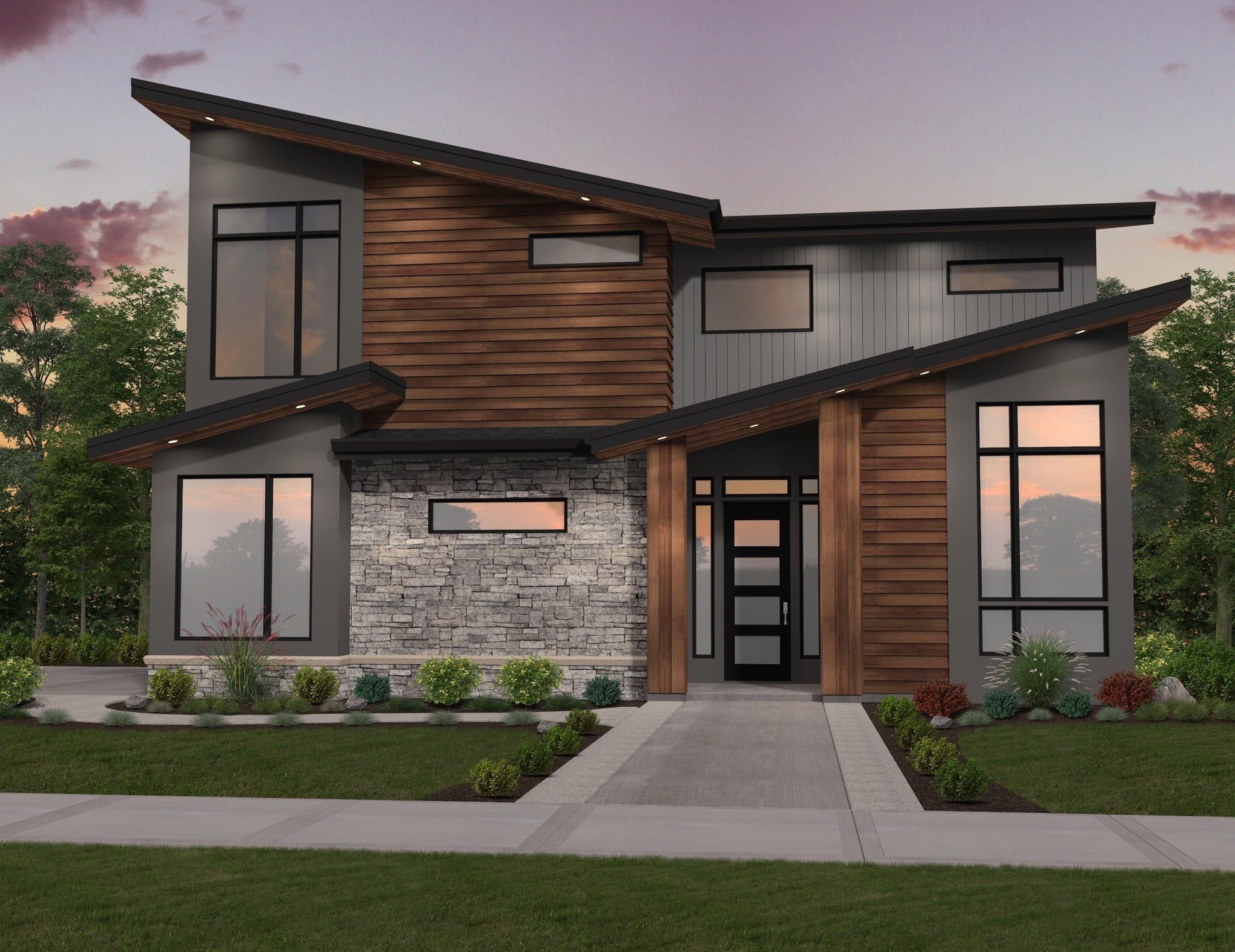 Ozark House Plan | Two-Story Modern Home Design by Mark ...