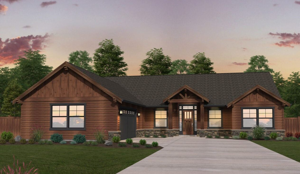 on ranch home plans lodge