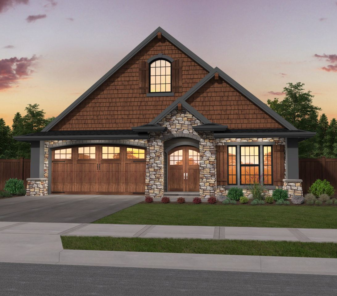 Detached Garage Plan By Mark Stewart Home Design: One Story Craftsman House Plan By