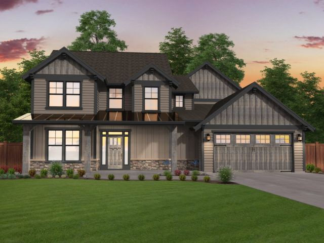 Modern craftsman house plans custom craftsman home for Custom craftsman home builders