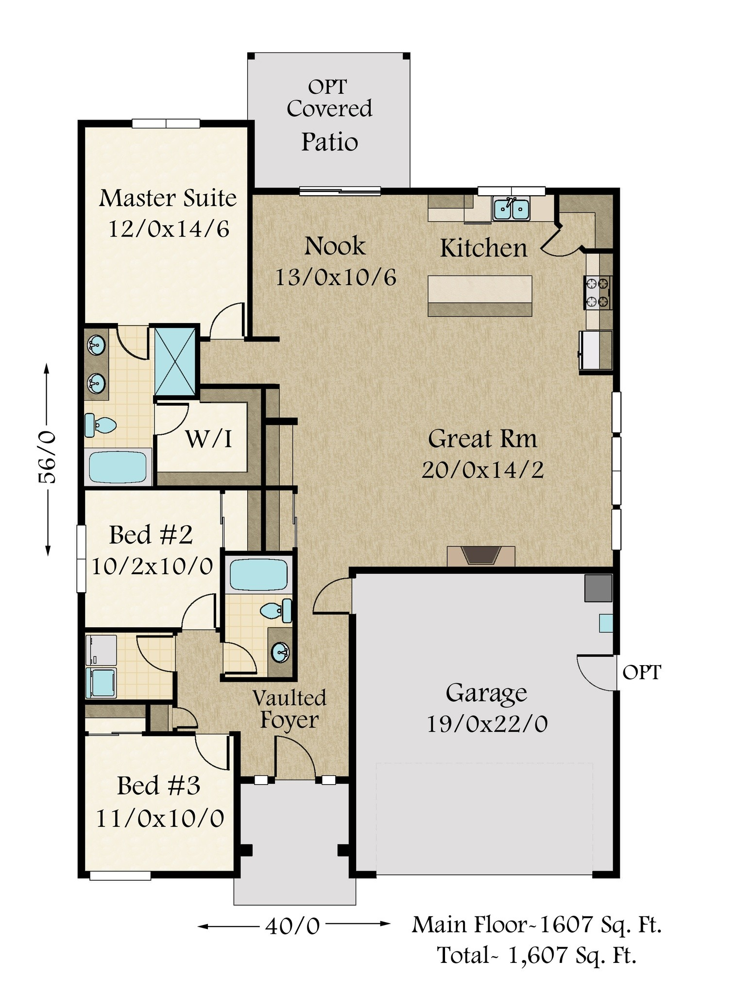 MM 1608 FLOOR PLAN 1 - View Modern Small House Design With Floor Plan  Gif