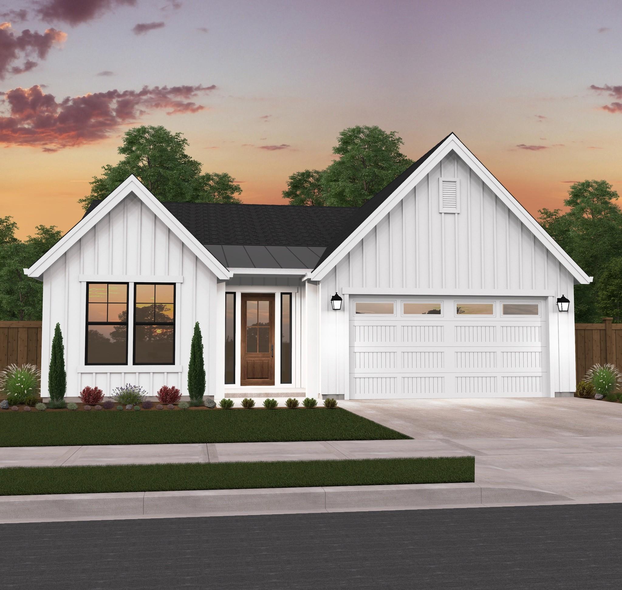 Detached Garage Plan By Mark Stewart Home Design: Conservative Farmhouse Plan By Mark Stewart Home
