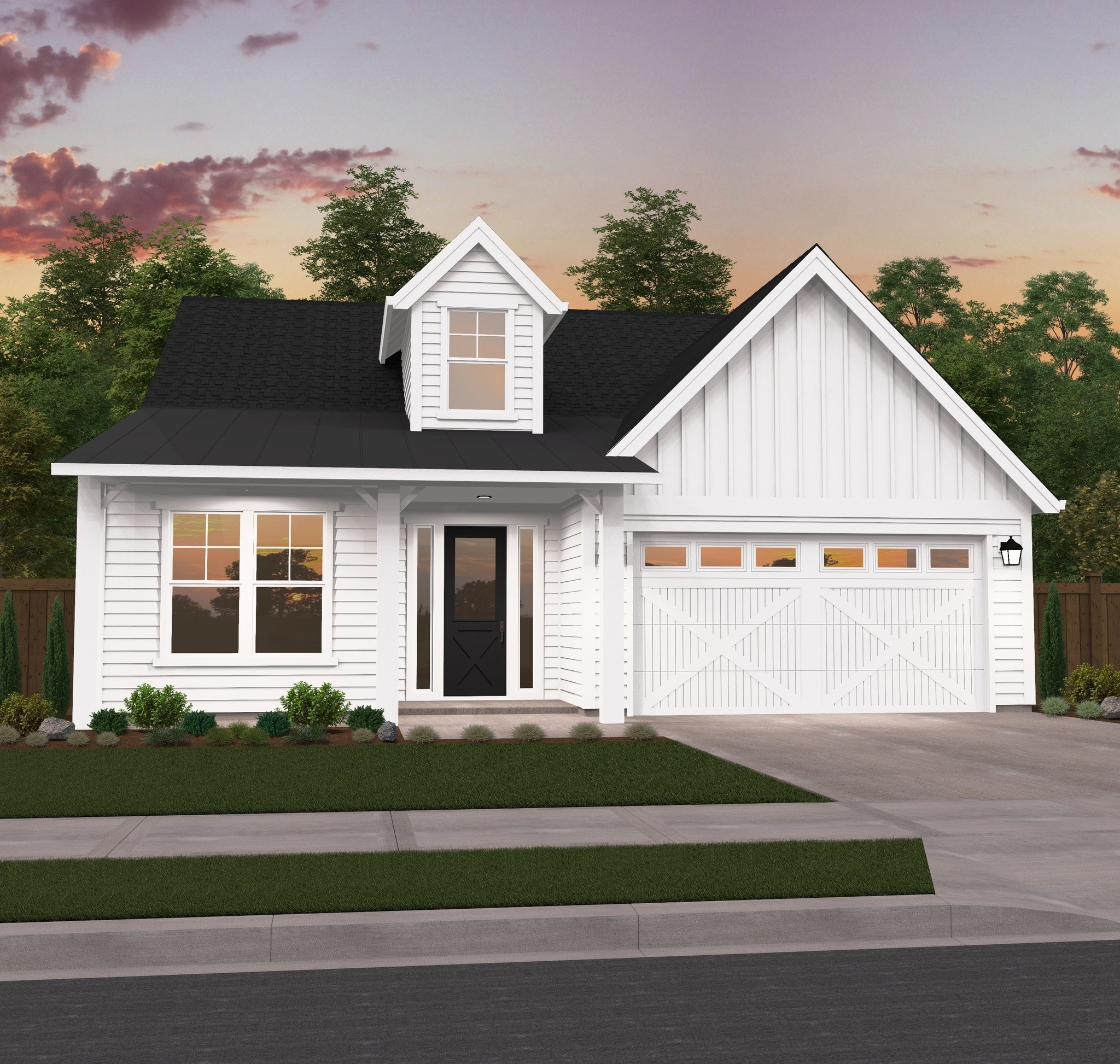 Cove Farmhouse Plan One Story Modern Farmhouse Plan