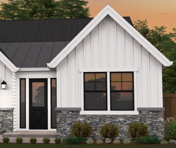 Rosewood One Story Farmhouse