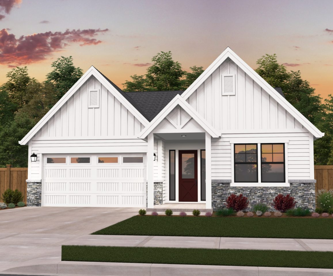 Poplar | One Story Farmhouse Plan by Mark Stewart