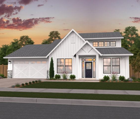 La Grande Two Story Country House Plans