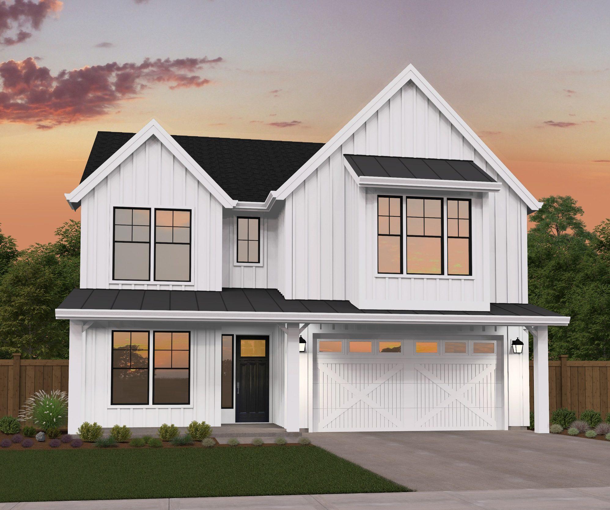 Detached Garage Plan By Mark Stewart Home Design: Affordable Farmhouse By Mark Stewart Home Design