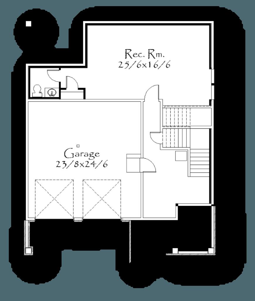 Detached Garage Plan By Mark Stewart Home Design: Modern Farmhouse Design, Floor Plan