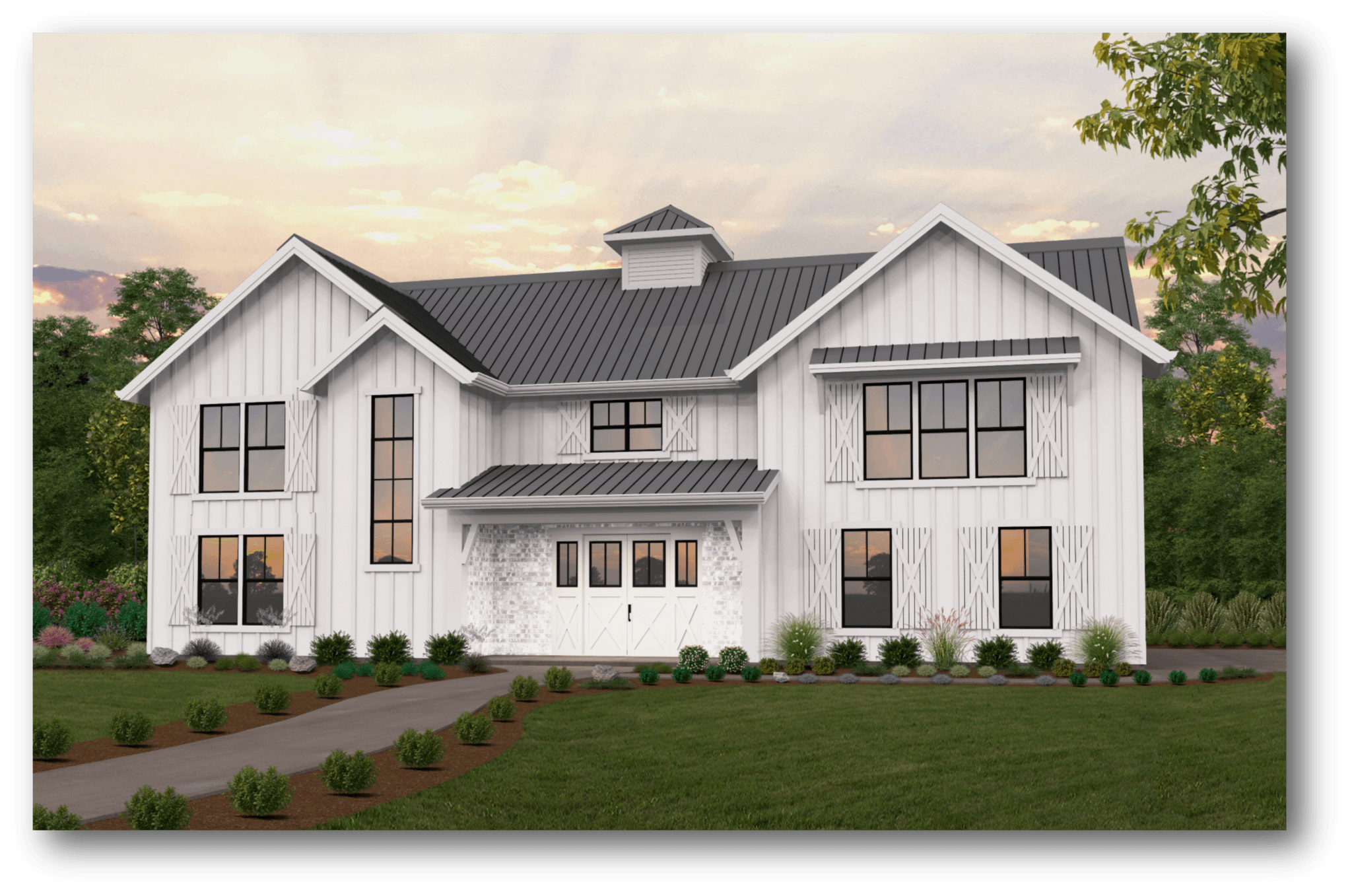 Township | Barn House Plan by Mark Stewart Home Design