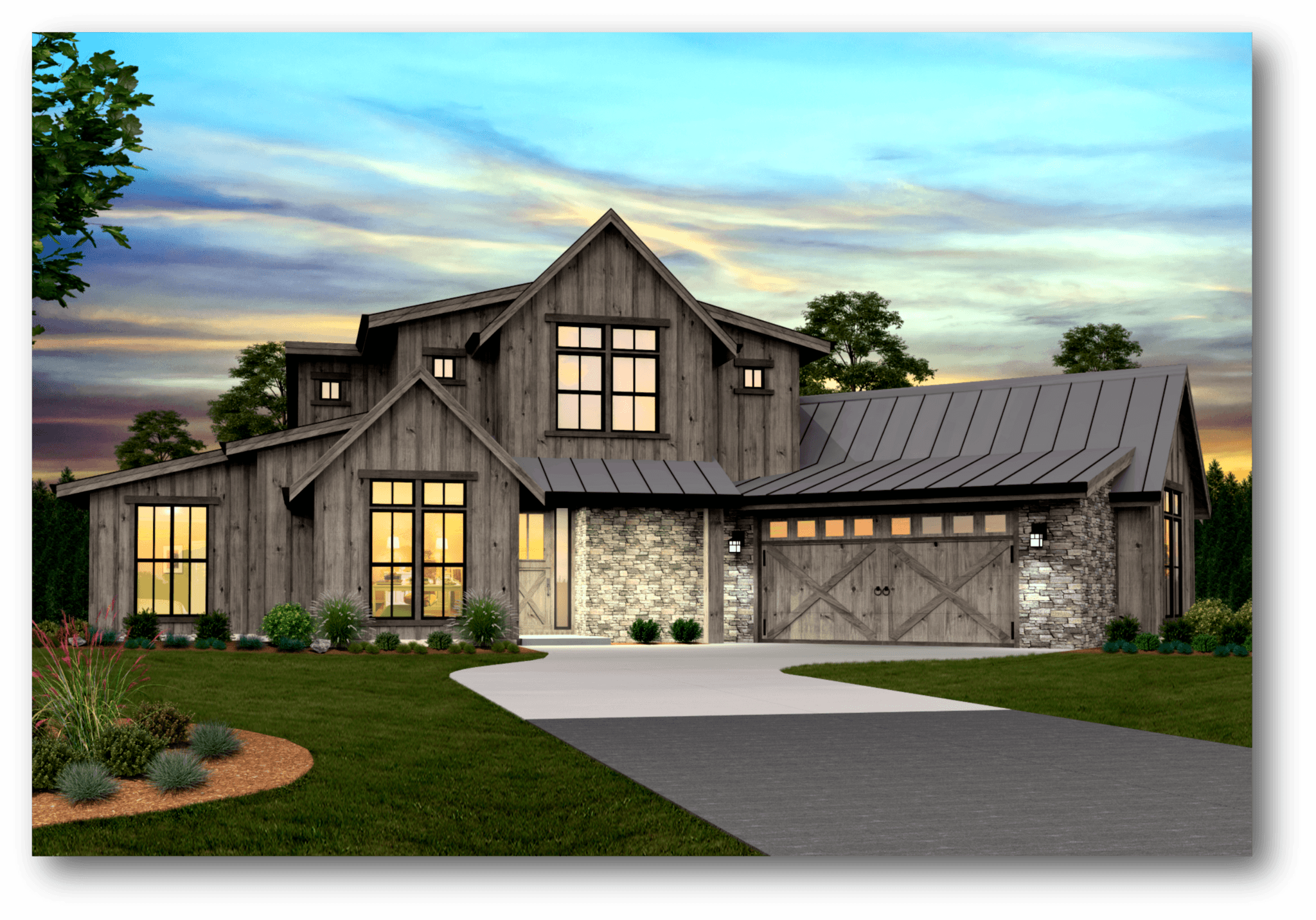 Pendleton modern farmhouse plan