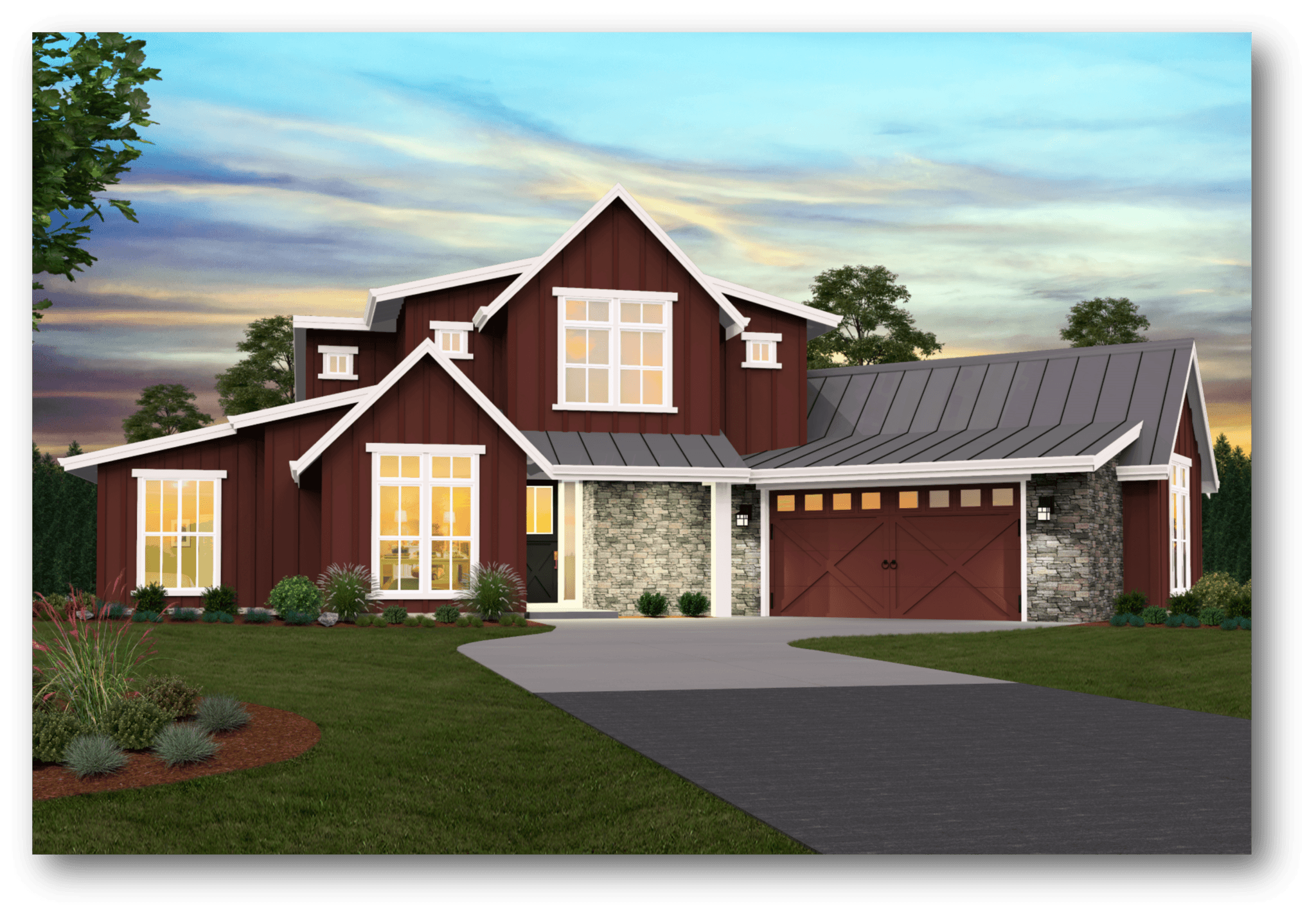Modern 2 Story Farmhouse Plans With