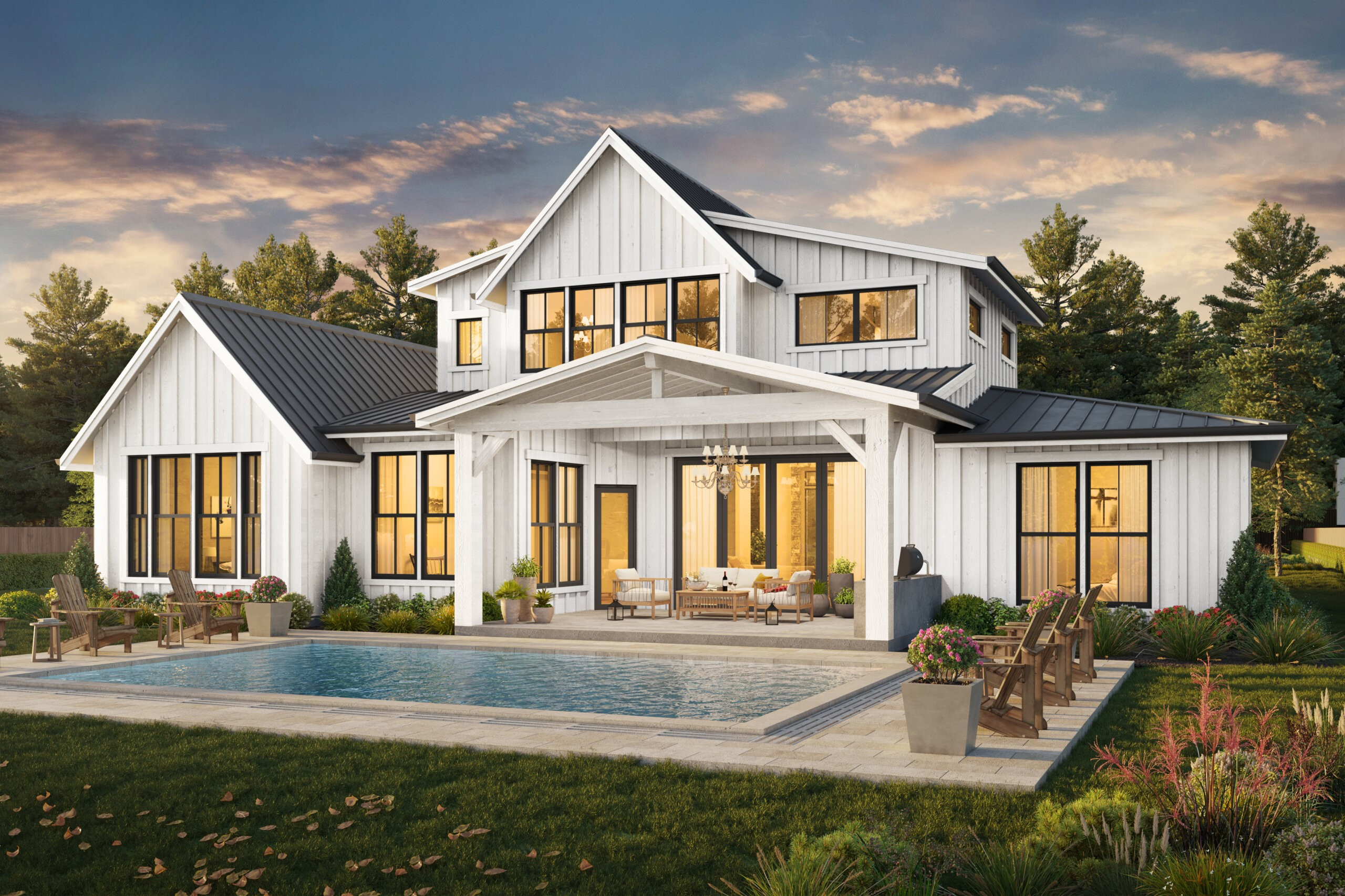 Pendleton House Plan | Modern 2 Story Farmhouse Plans with ...