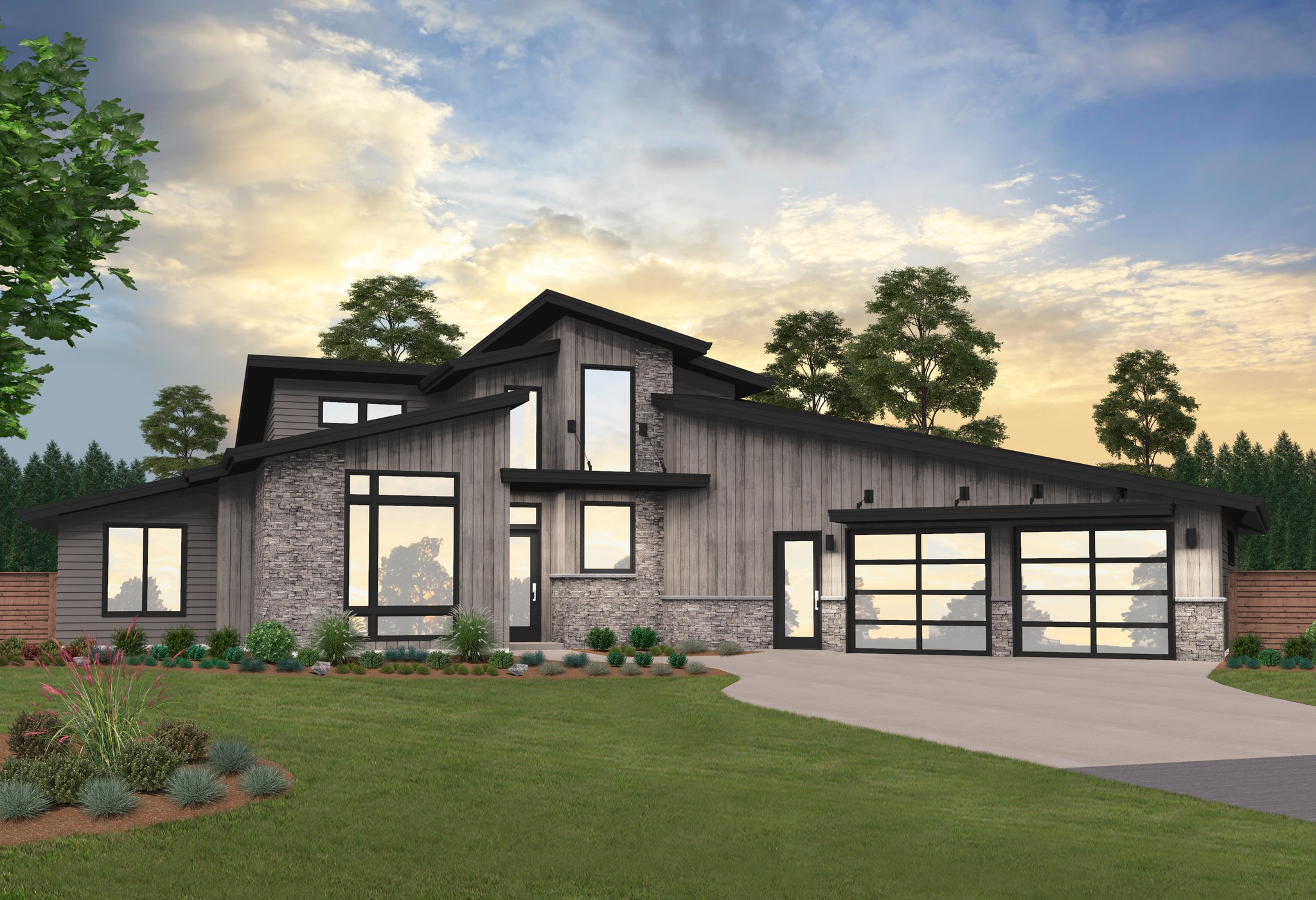 modern 2 story house plans soure point house plan modern two story home design w 2 car garage 7173