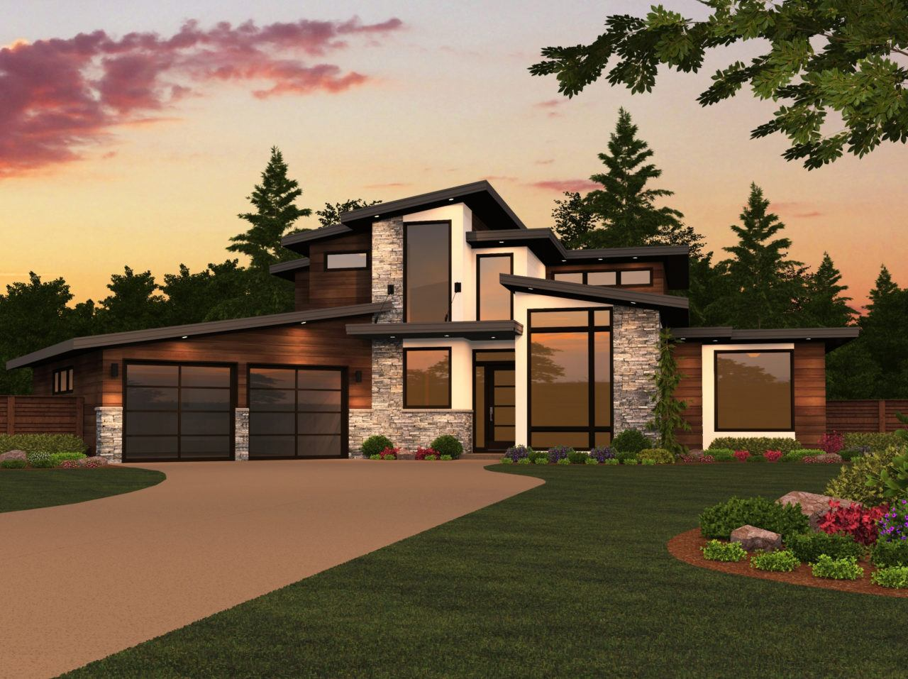 MM 3311 DALLAS HOUSE PLAN FRONT VIEW 1280x957 - 38+ Small Two Story Modern Style Modern House Design Images