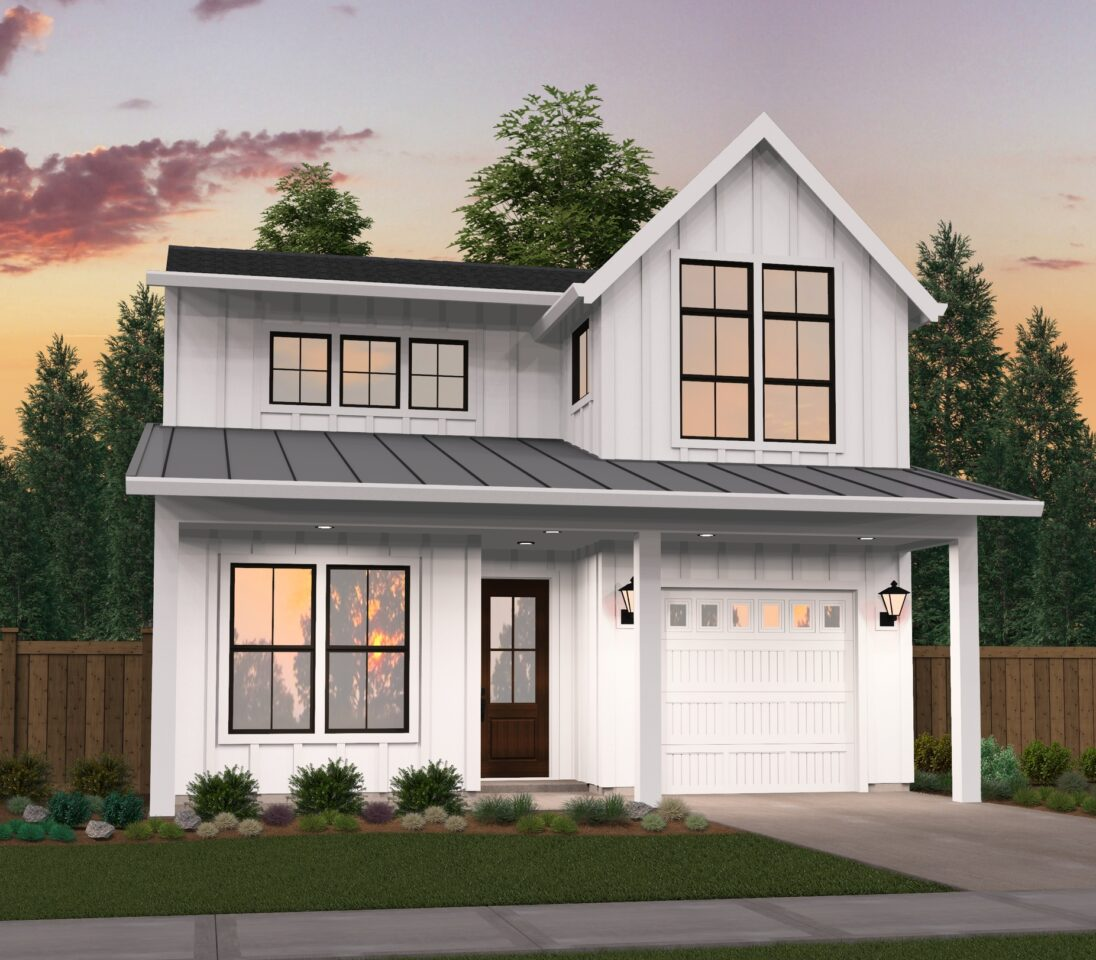 Double Garage Design In Sidcup: Two Story Modern Farmhouse Plans With