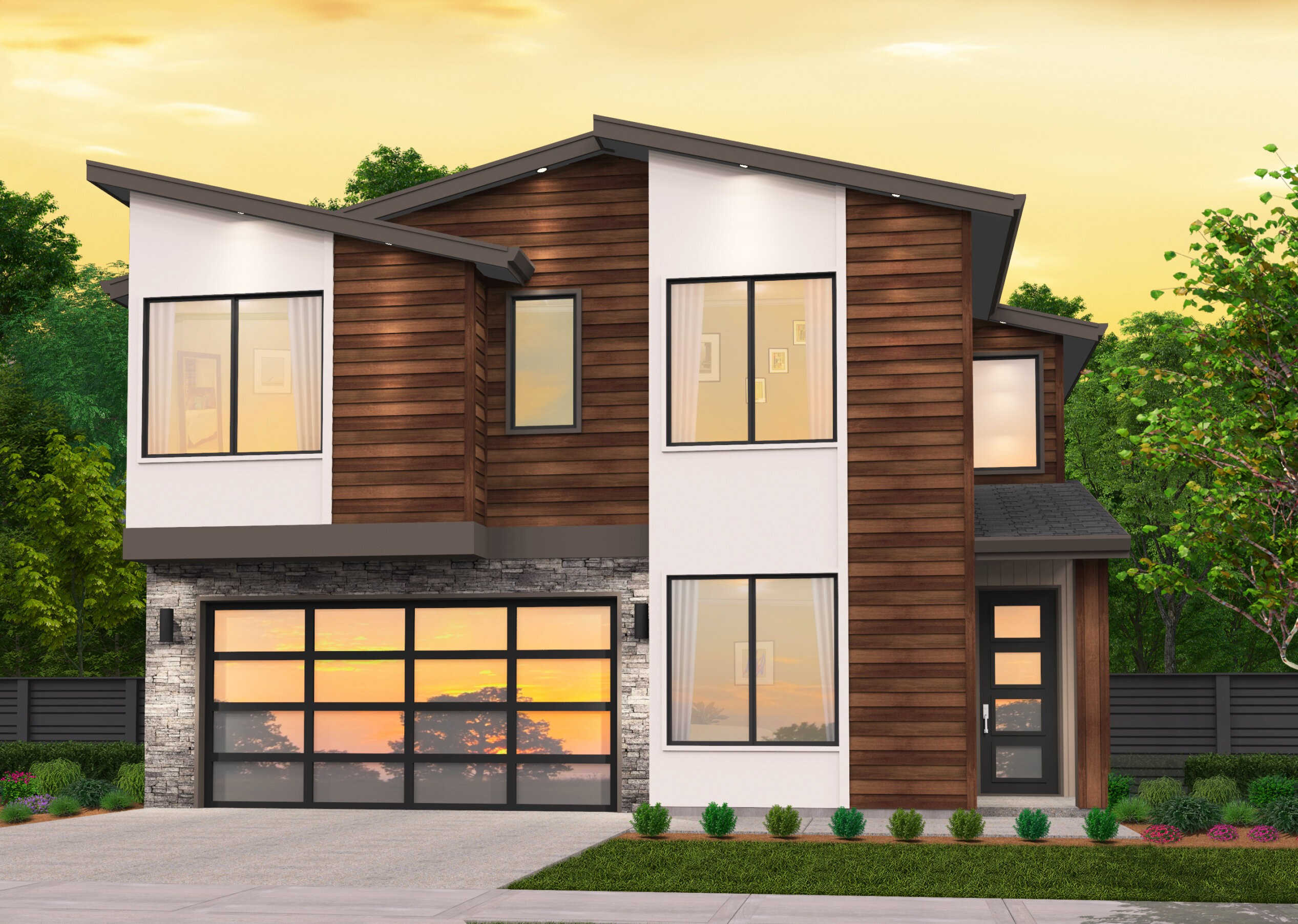 Modern Ledge Modern House Plan With Shed Roof By Mark Stewart
