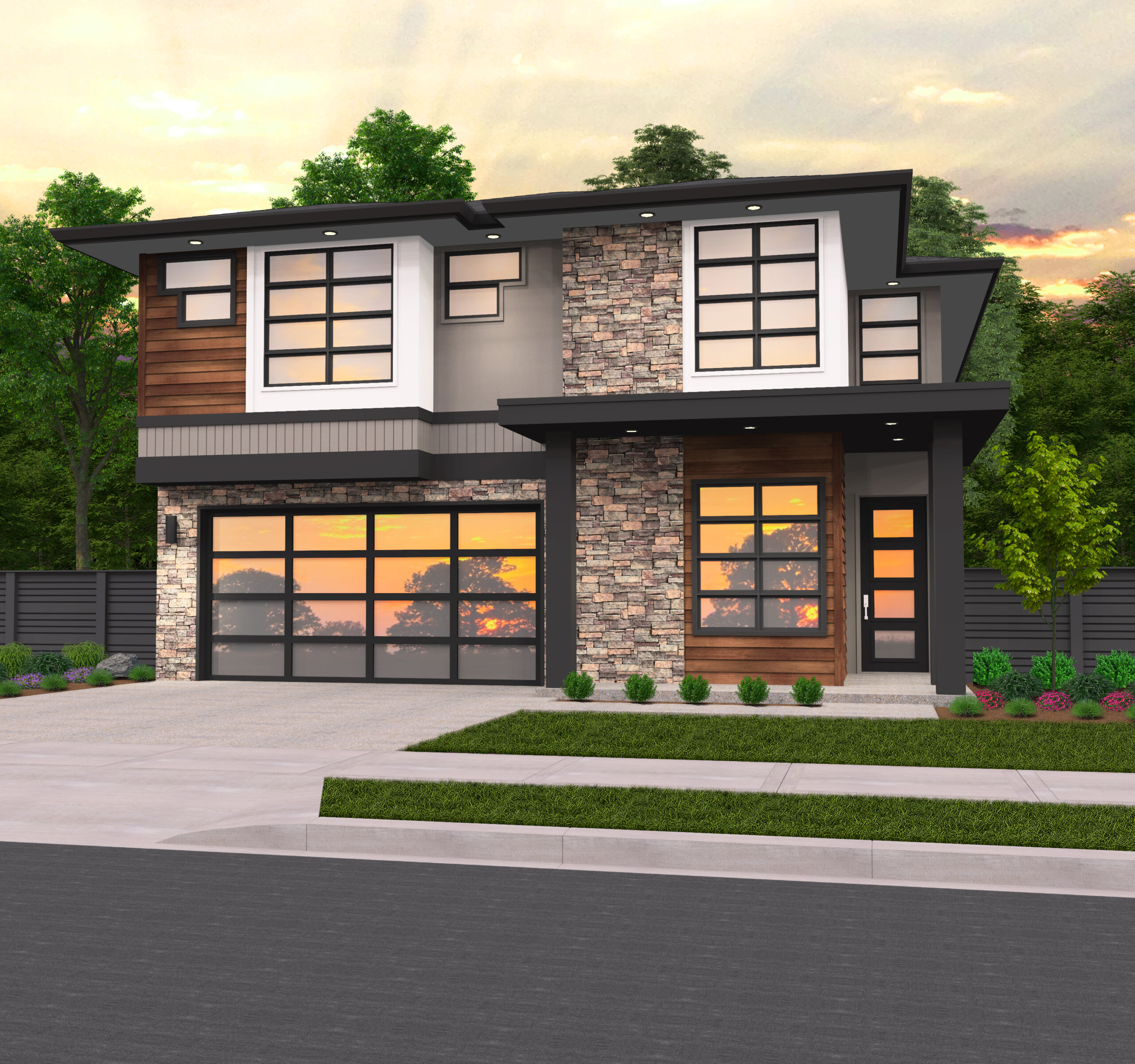 Everest Modern House Plan With Hip Roof By Mark Stewart