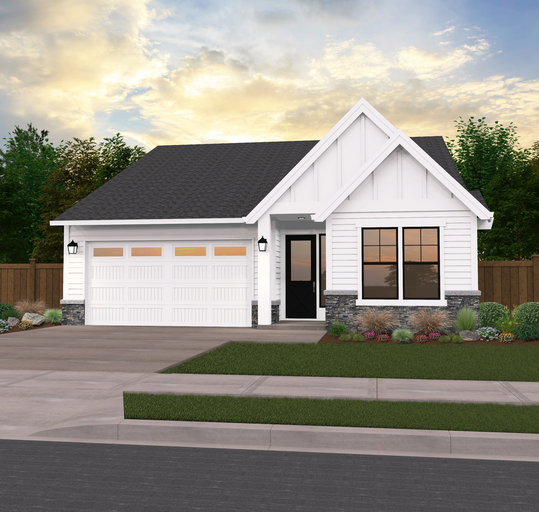 One-Story Country House Plan By Mark Stewart