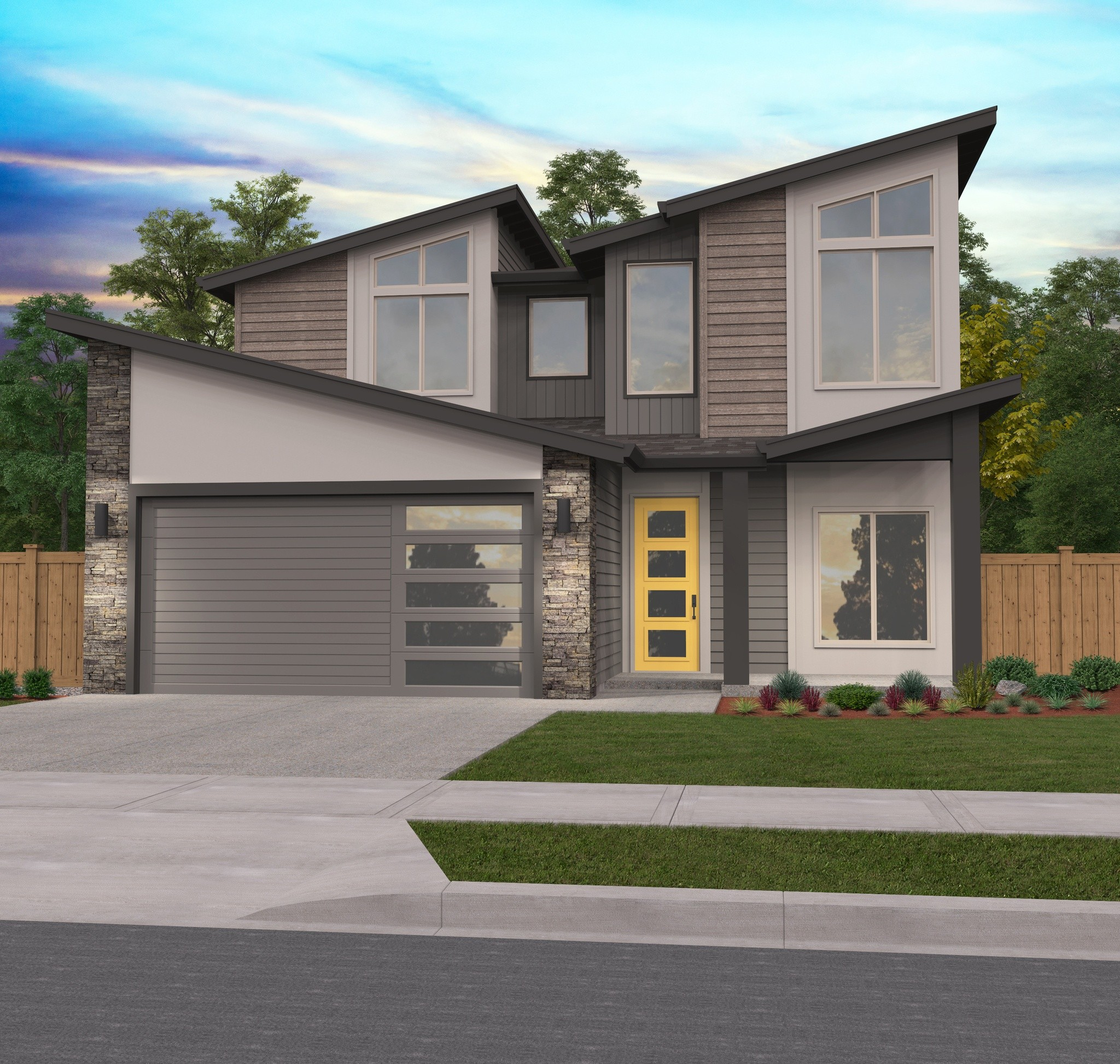 House Design: Two Story Modern House Plans With