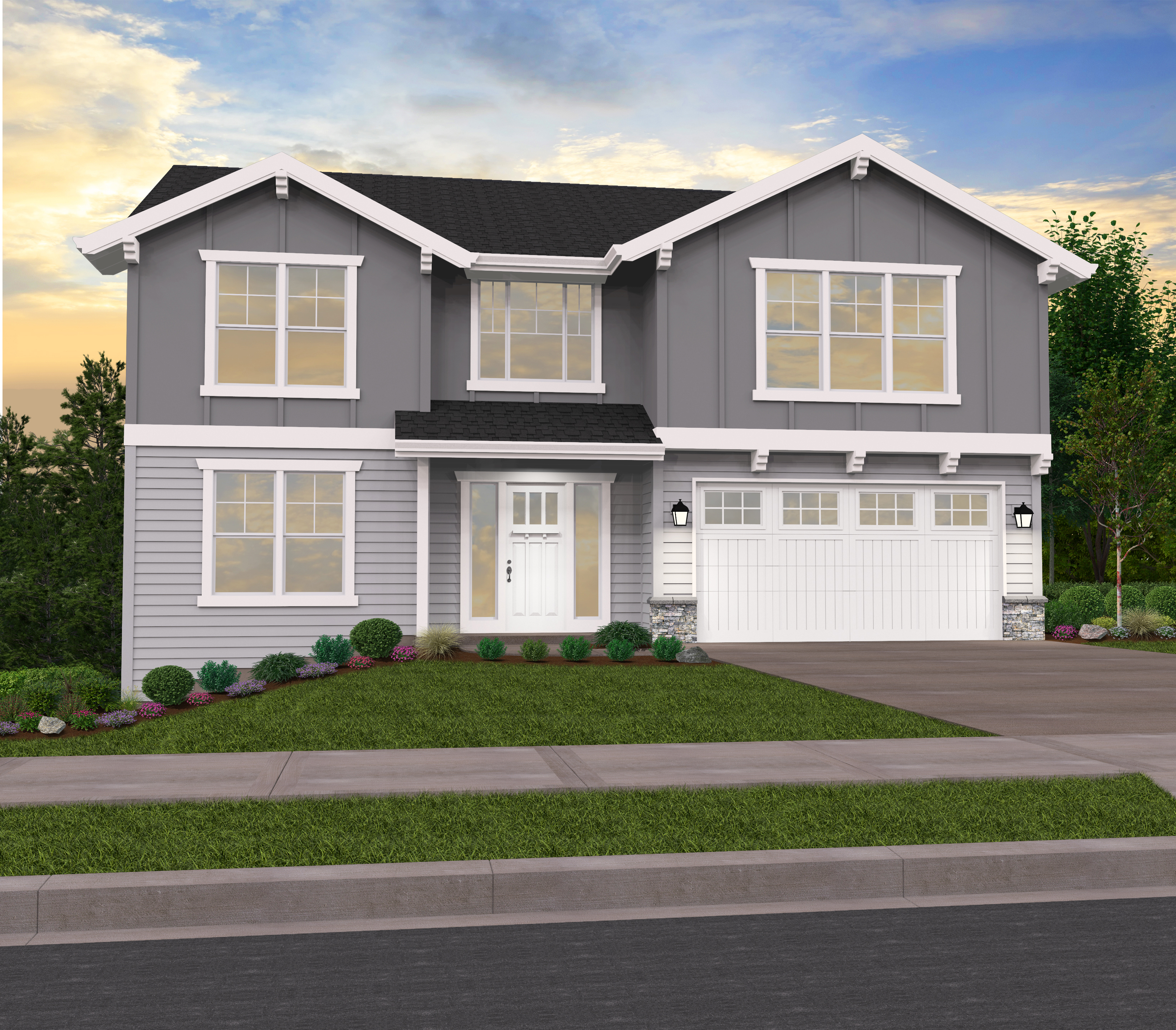 Mark Stewart Home Design: Three Story House Plan By Mark Stewart Home Design